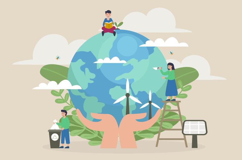 保护地球概念设计矢量素材(AI/EPS)