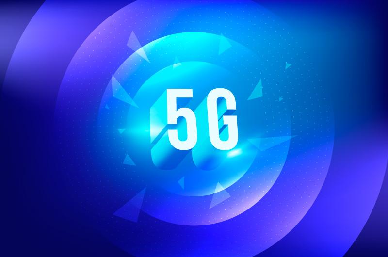 立体设计5G科技背景矢量素材(AI/EPS)