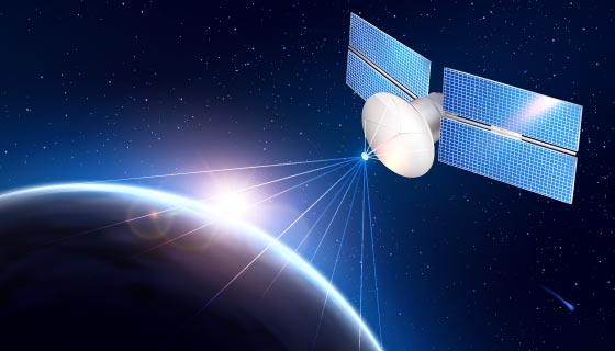卫星发送信号到地球矢量素材(EPS)