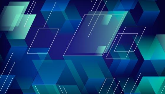 多边形形状抽象背景矢量素材(AI/EPS)