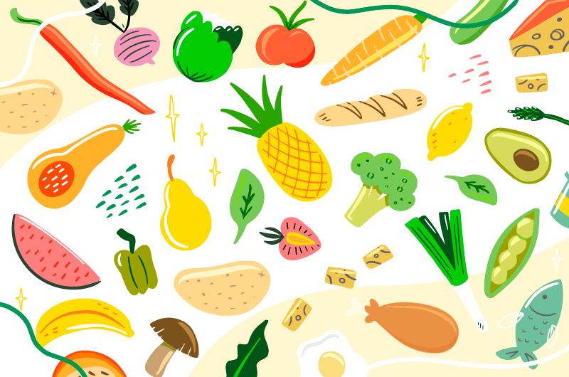 丰富多彩的有机水果蔬菜矢量素材(AI/EPS/免扣PNG)