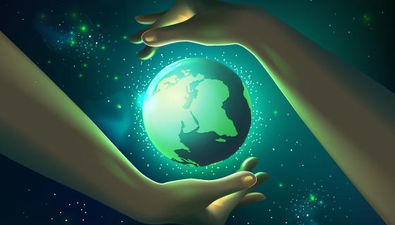 双手保护地球矢量素材(AI/EPS)