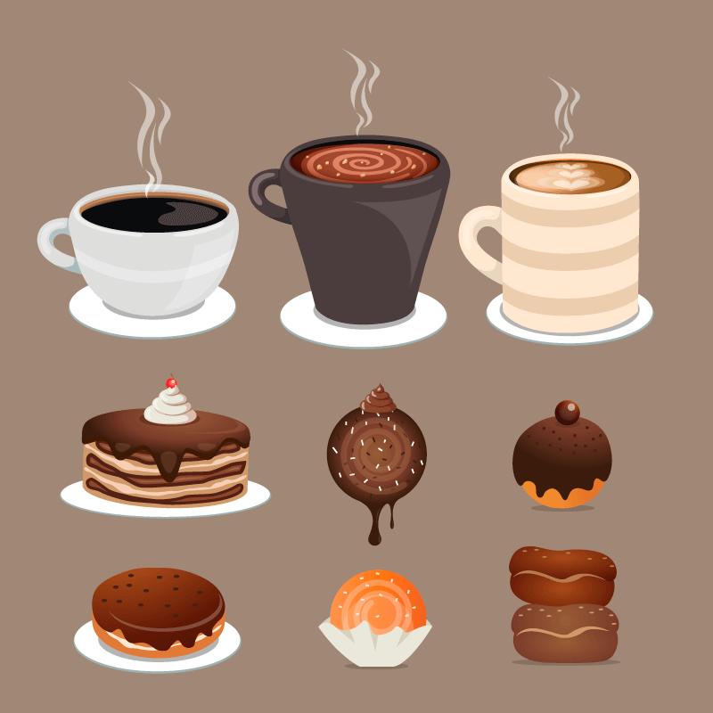 各种各样的甜品矢量素材(AI/EPS/免扣PNG)