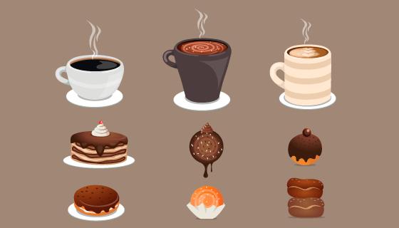 各种各样的甜品矢量素材(AI/EPS/PNG)