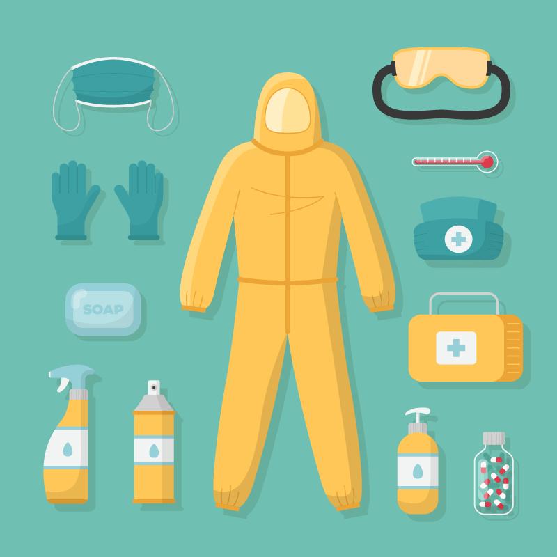 各种各样的病毒防护设备矢量素材(AI/EPS/免扣PNG)