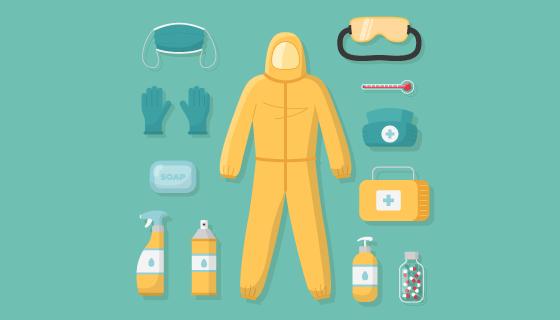 各种各样的病毒防护设备矢量素材(AI/EPS/PNG)