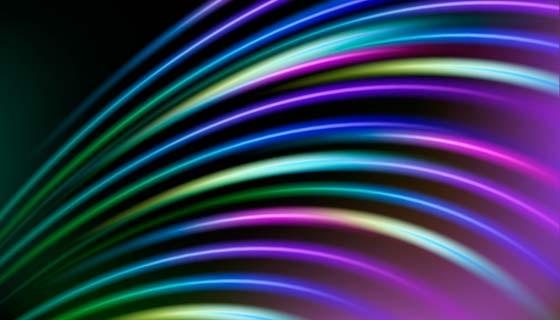 多彩抽象霓虹灯背景矢量素材(AI/EPS)