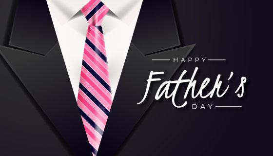 西服领带设计父亲节矢量素材(AI/EPS)