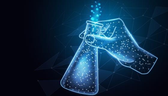 未来科学实验室背景矢量素材(AI/EPS)