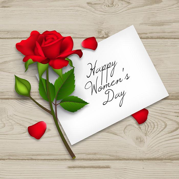 妇女节玫瑰花信件背景矢量素材(EPS/AI)