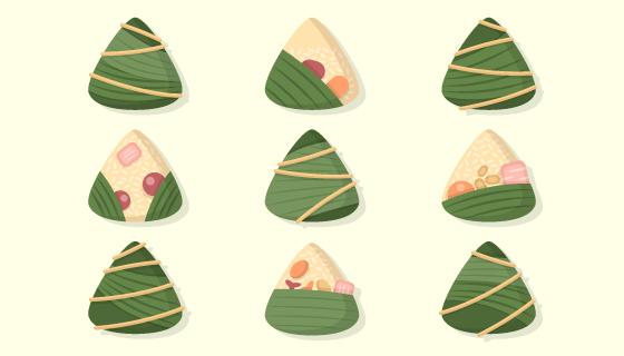 手绘美味端午节粽子矢量素材(AI/EPS/PNG)
