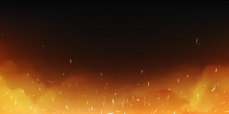 逼真的火焰火花和烟雾矢量素材(EPS)