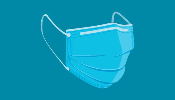 扁平风格一次性医用口罩矢量素材(AI/EPS/PNG)