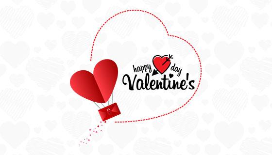 含爱心和信封元素的情人节快乐矢量素材(EPS/PNG)