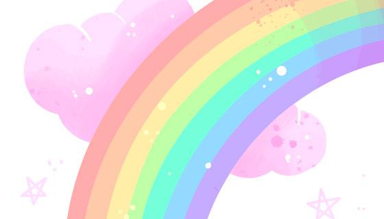 可爱的彩虹矢量素材(AI/EPS)