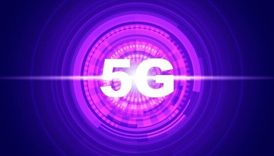 紫色光环5G概念背景矢量素材(AI/EPS)