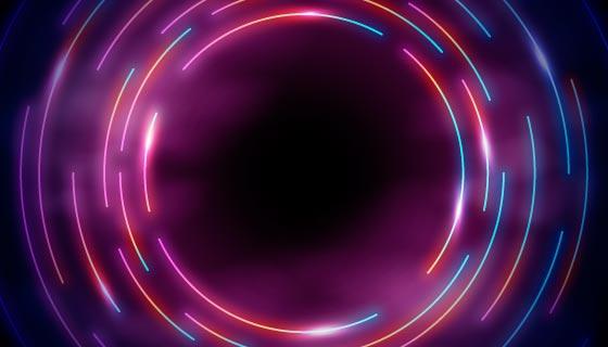 多彩圆圈霓虹灯背景矢量素材(AI/EPS)