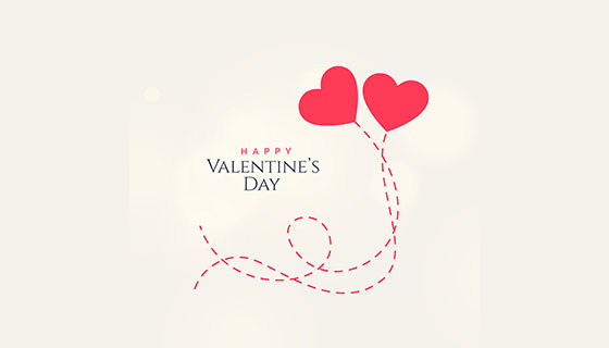 甜蜜的爱心情人节卡片矢量素材(EPS/PNG)