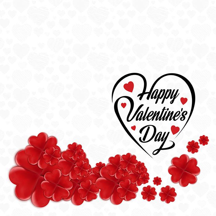 创意情人节快乐爱心和花朵矢量素材(EPS/PNG)