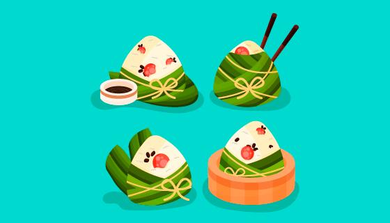 美味端午节粽子矢量素材(AI/EPS/PNG)