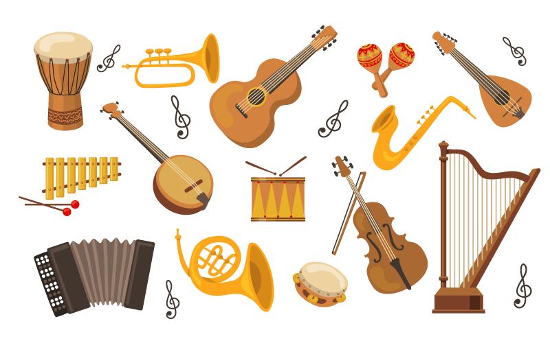 各种各样的乐器矢量素材(EPS/免扣PNG)