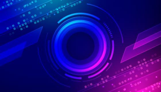 蓝色紫色设计科技背景矢量素材(AI/EPS)