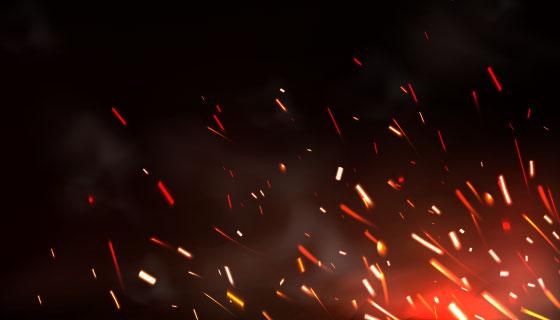 金属切割焊接火花背景矢量素材(EPS)