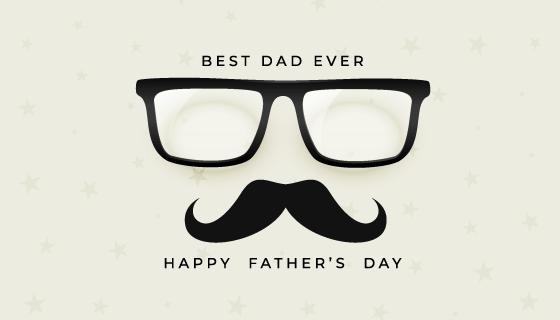眼镜和胡子设计父亲节快乐矢量素材(EPS)