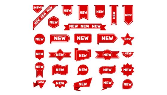 红色new标签/徽章矢量素材(AI/EPS/PNG)