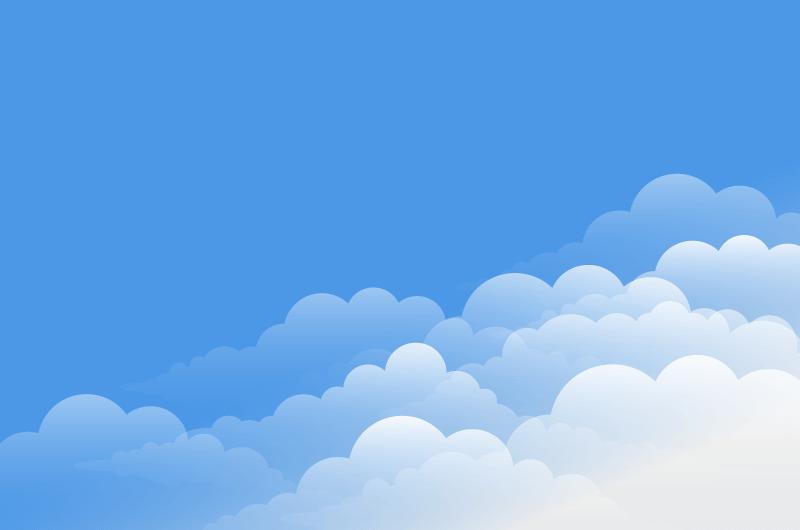 简单的蓝天白云背景矢量素材(EPS)