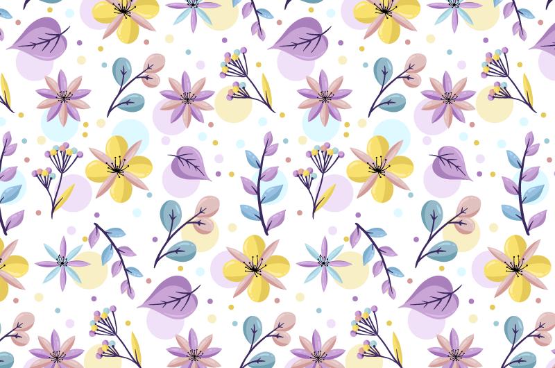 浅色花朵图案背景矢量素材(AI/EPS/免扣PNG)
