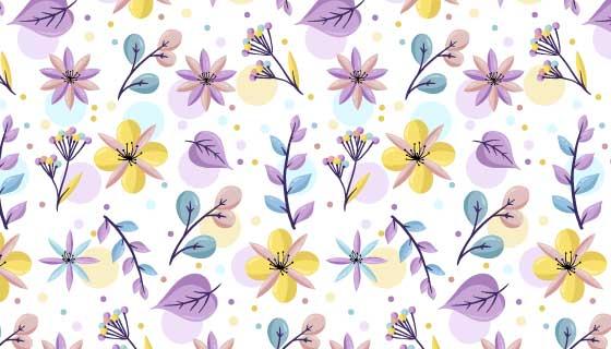 浅色花朵图案背景矢量素材(AI/EPS/PNG)