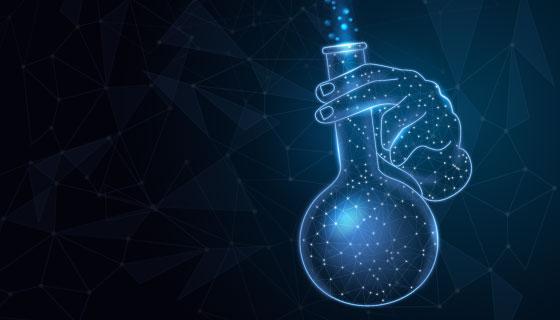 富有科技感的科学实验室背景矢量素材(AI/EPS)