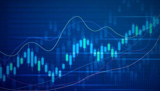 富有科技感的股票走势图矢量素材(AI/EPS)