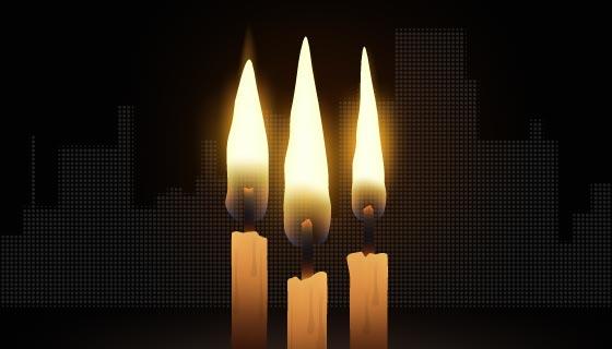 蜡烛哀悼受难者矢量素材(AI/EPS)
