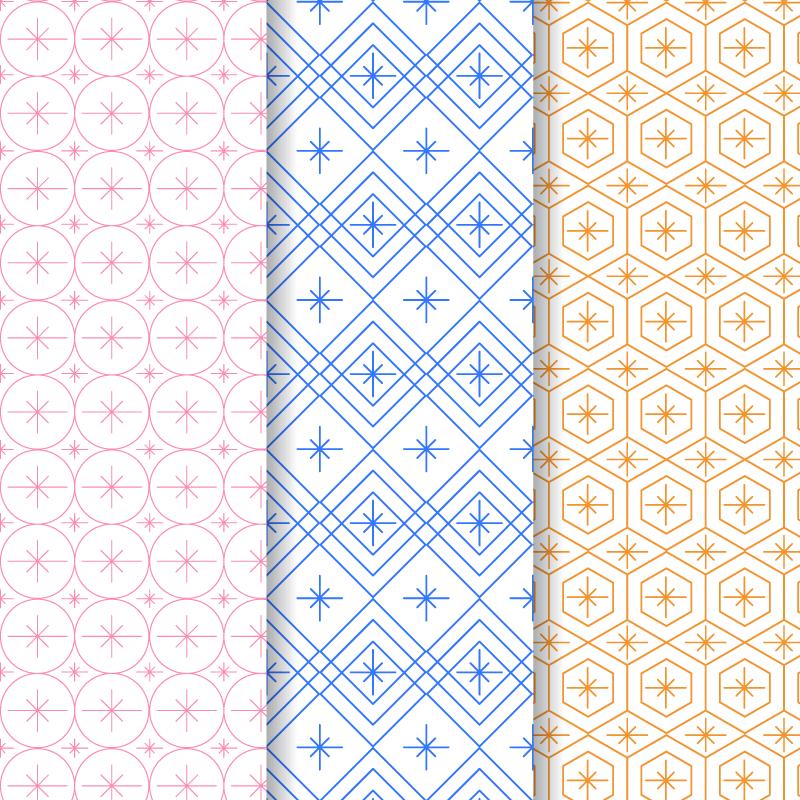 简约几何图案背景矢量素材(AI/EPS)