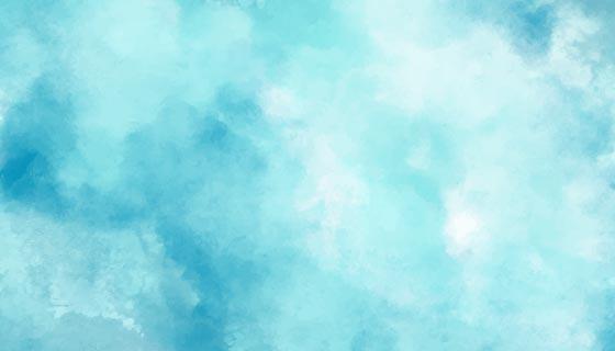 天青色水彩背景矢量素材(EPS)