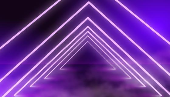 霓虹灯舞台背景矢量素材(AI/EPS)