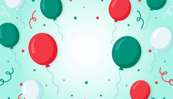 清新的气球背景矢量素材(AI/EPS)