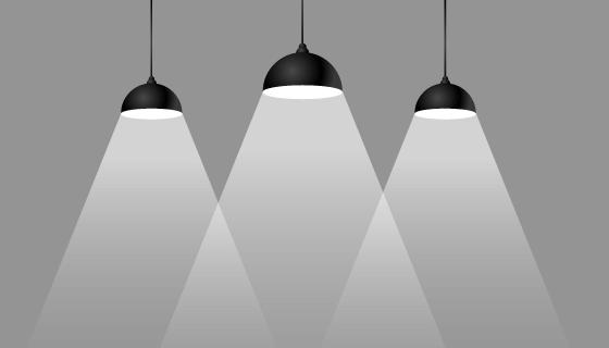扁平风格的聚光灯矢量素材(EPS)