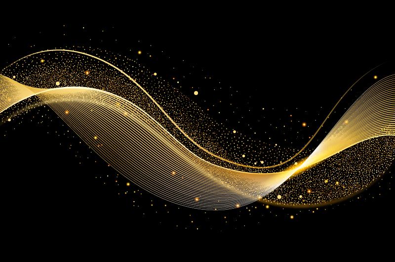 抽象金色波浪背景矢量素材(AI/EPS)
