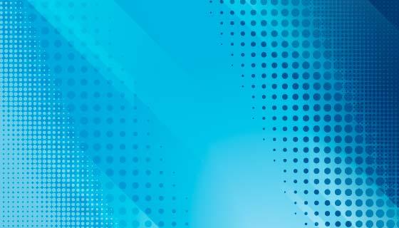 蓝色抽象半色调背景矢量素材(AI/EPS)
