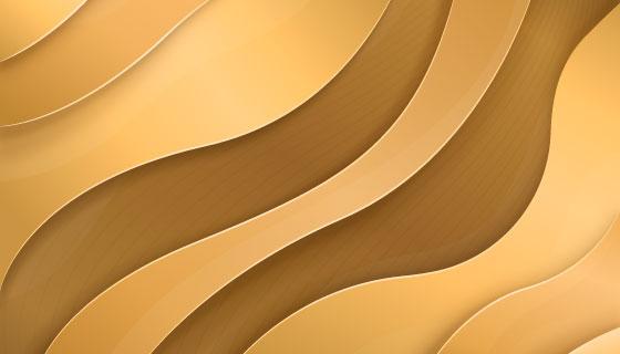 金色曲线奢华背景矢量素材(AI/EPS)