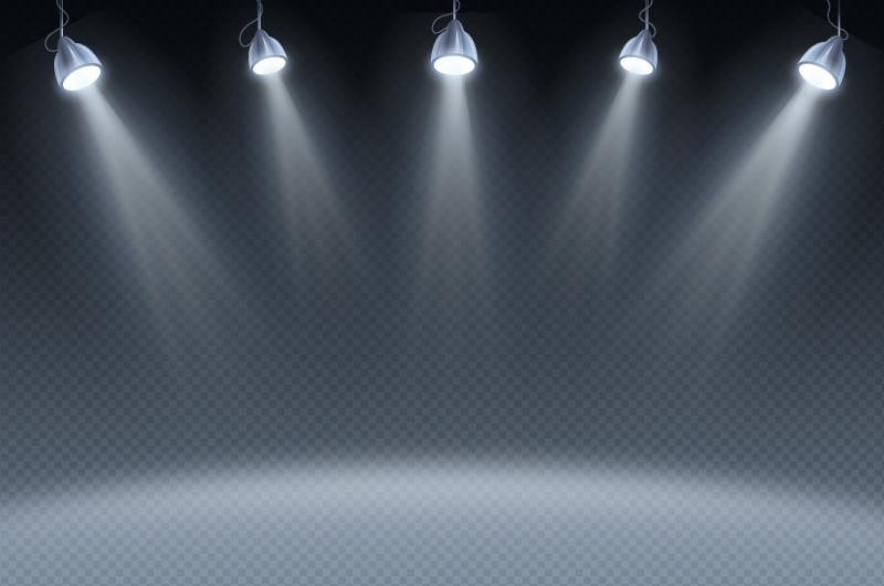 聚光灯背景矢量素材(AI/EPS)