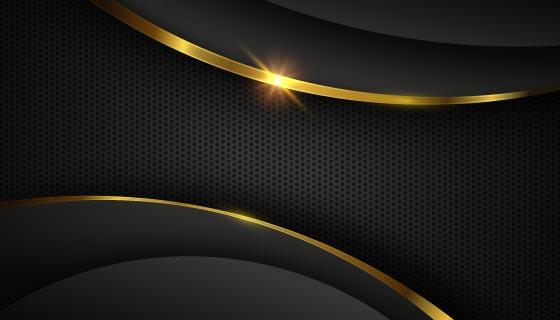 黑金色奢华背景矢量素材(AI/EPS)