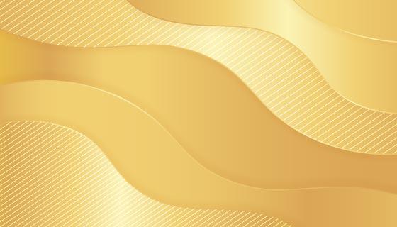 金色波浪背景矢量素材(AI/EPS)