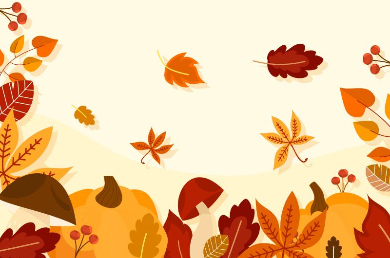 各种叶子设计秋天背景矢量素材(AI/EPS)
