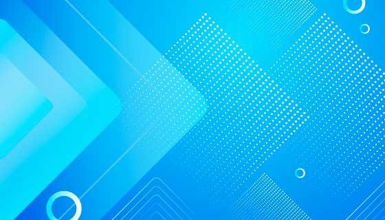 蓝色抽象半色调背景/壁纸矢量素材(AI/EPS)