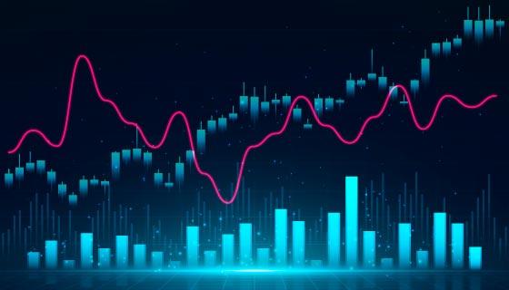 股票K线图矢量素材(AI/EPS)