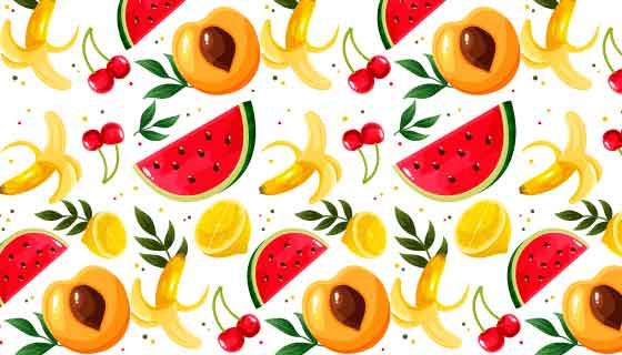 多彩水果图案背景矢量素材(AI/EPS)